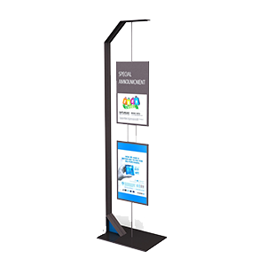 Chase floor stand fixture for marketing in banking locations nationwide, Marketing displays